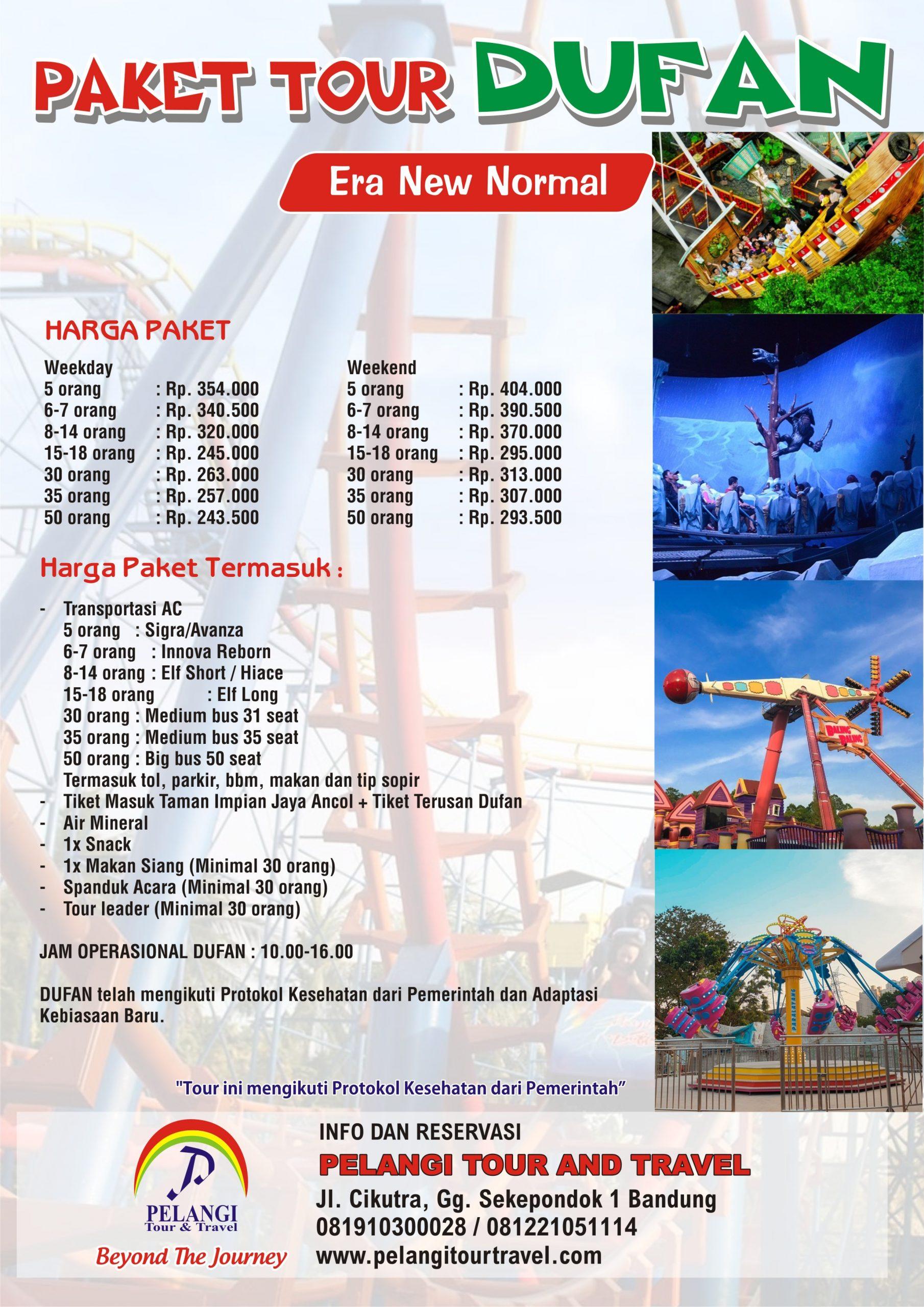 PAKET TOUR DUFAN 9  Pelangi Tour & Travel